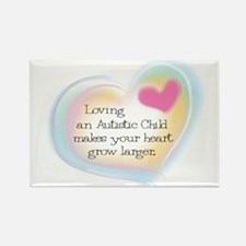 Growing Heart Rectangle Magnet