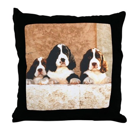 English Springer Pups 2 Throw Pillow