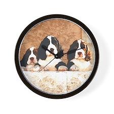English Springer Pups 2 Wall Clock