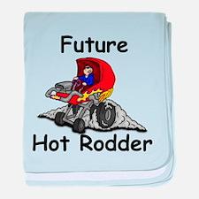 Future Hot Rodder baby blanket