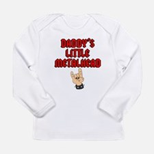 Daddy's Little Metalhead Long Sleeve Infant T-Shir
