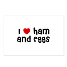 I * Ham And Eggs Postcards (Package of 8)