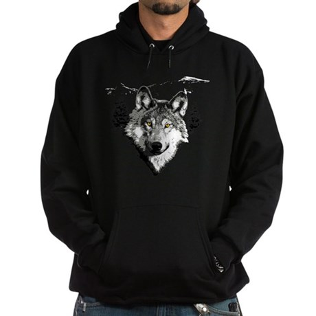 Grey Wolf Love Hoodie (dark)