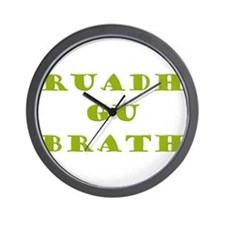 Gaelic Redheads Forever Green Wall Clock