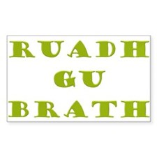 Gaelic Redheads Forever Green Sticker (Rectangle 5