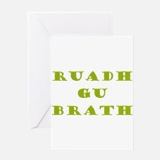 Gaelic Redheads Forever Green Greeting Card