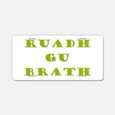 Gaelic Redheads Forever Green Aluminum License Pla