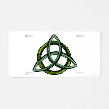 Triquetra Green Aluminum License Plate