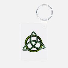 Triquetra Green Keychains