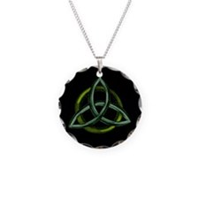 Triquetra Green Necklace