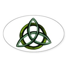 Triquetra Green Decal