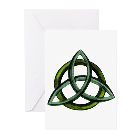 Triquetra Green Greeting Cards (Pk of 10)