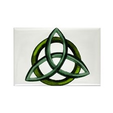 Triquetra Green Rectangle Magnet