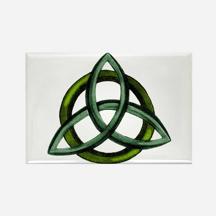Triquetra Green Rectangle Magnet