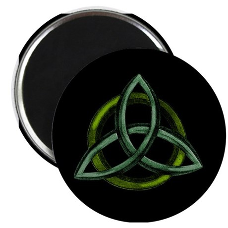 """Triquetra Green 2.25"""" Magnet (10 pack)"""