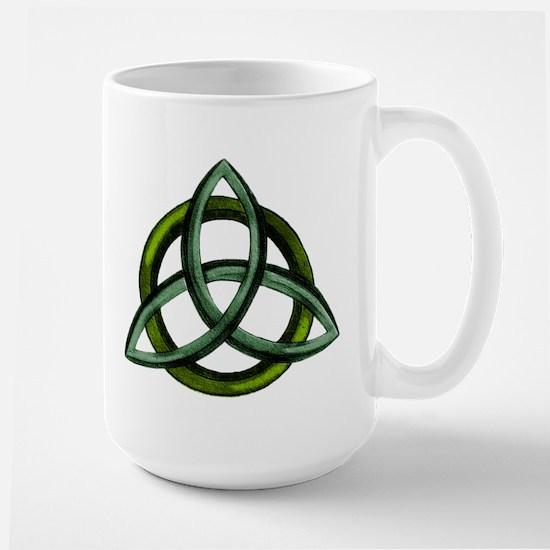 Triquetra Green Large Mug