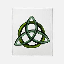 Triquetra Green Throw Blanket