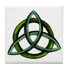 Triquetra Green Tile Coaster