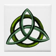 Triquetra Green Tile Coaster