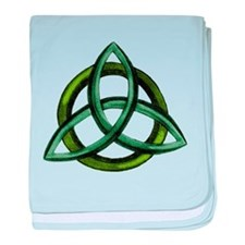 Triquetra Green baby blanket