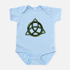 Triquetra Green Infant Bodysuit