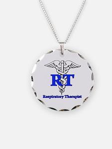 Respiratory Therapist Necklace Circle Charm