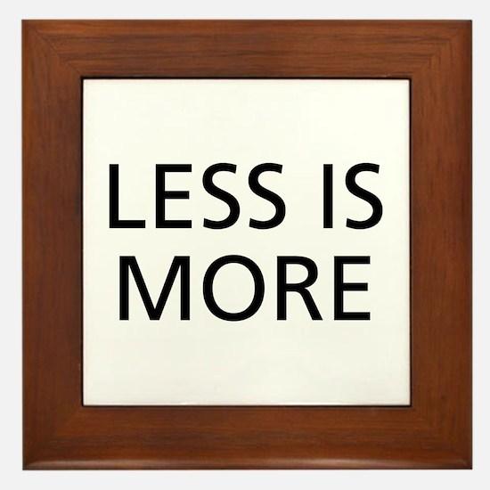Less is More Framed Tile