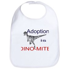 Adoption is Dino-mite! Bib