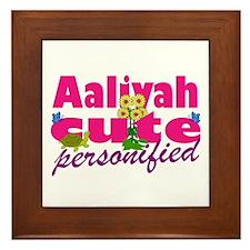 Cute Aaliyah Framed Tile