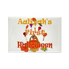 Aaliyah's First Halloween Rectangle Magnet