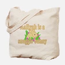 Aaliyah is a Snuggle Bunny Tote Bag