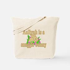 Aaliyah is a Snuggle Bunny Tote Bag