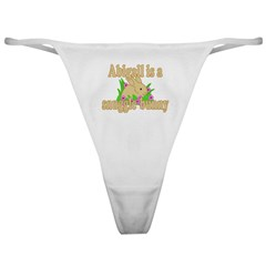Abigail is a Snuggle Bunny Classic Thong