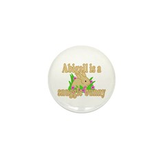 Abigail is a Snuggle Bunny Mini Button (10 pack)