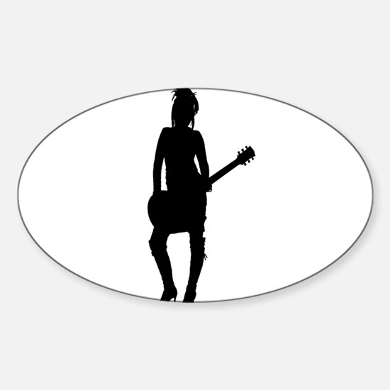 Girl Rock Star Sticker (Oval)