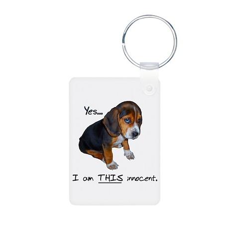 Innocent Puppy Aluminum Photo Keychain