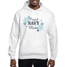 Proud Navy Mom [fl] Hoodie