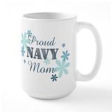 Navy mom Large Mugs (15 oz)