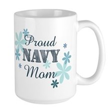 Proud Navy Mom [fl] Mug