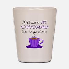 Cafe Latte Shot Glass