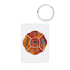Maltese Cross Fireman Keychains