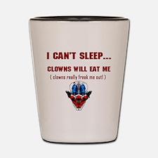 Evil Clowns Shot Glass