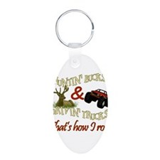 Unique Deer hunting Aluminum Oval Keychain