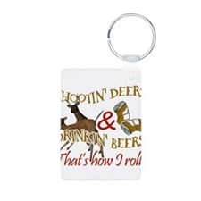 Cute Deer hunting Aluminum Photo Keychain