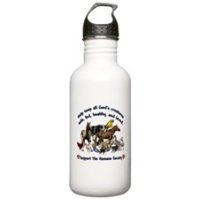 All Gods Creatures Water Bottle