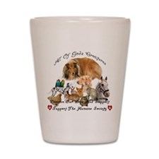 Cute Pets spayed or neutered Shot Glass