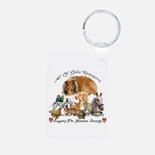 Cute Support animal shelters Keychains