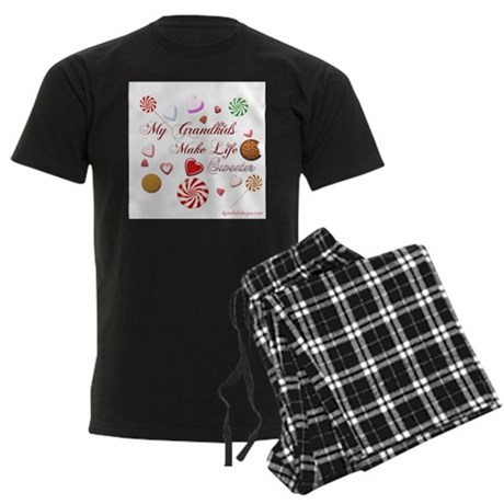 My grandkids make life sweete Men's Dark Pajamas