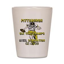 Pittsburgh Six Time Champs Shot Glass