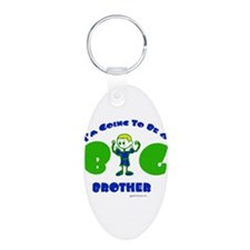 Going To Be A Big Brother Aluminum Oval Keychain